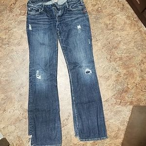 Destroyed Silver Toni jeans